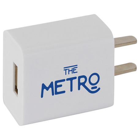 UL Listed Extent USB AC Adapter, 7141-16, 1 Colour Imprint