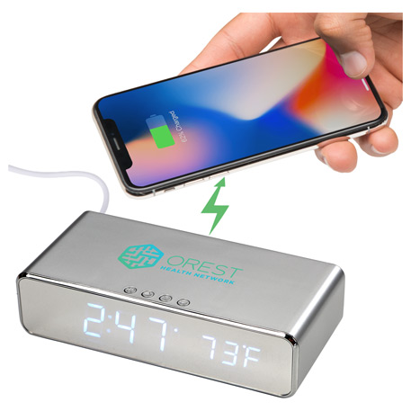 Keen Wireless Charging Desk Clock, 1071-29-L, 1 Colour Imprint