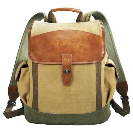 Cutter & Buck Legacy Cotton Canvas Backpack, 9840-45, Deboss Imprint