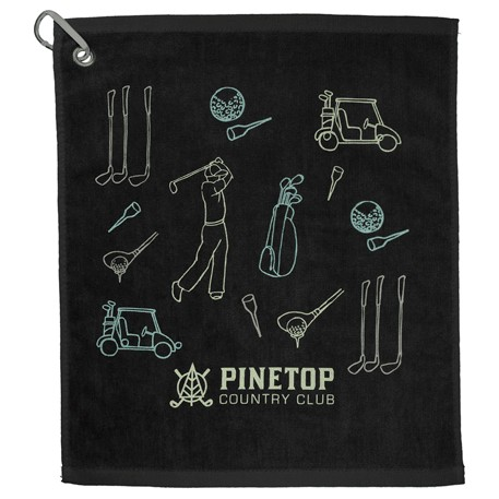 1.3 lb./doz. 18x15in Terry Golf Towel, 2091-01-L, 1 Colour Imprint