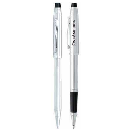 Cross Century II Lustrous Chrome Pen Set, 2767-14 - 1 Colour Imprint