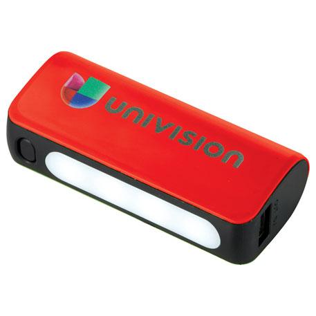UL Listed Helical Flashlight 2,200 mAh Power Bank, 7120-86 - 1 Colour Imprint