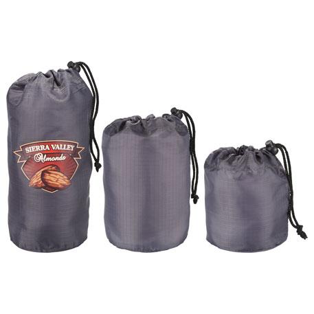 BRIGHTtravels Set of 3 Mini Stuffer Sacks, 7007-17 - 1 Colour Imprint