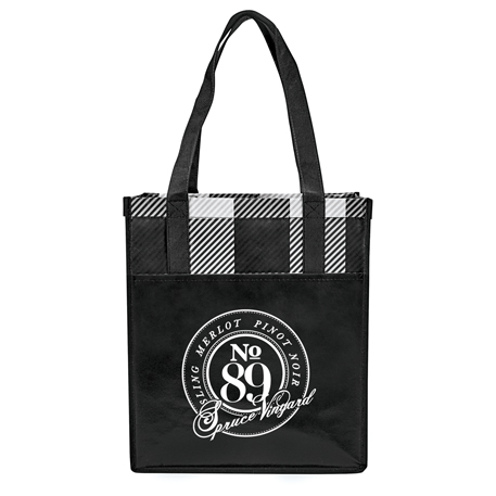 Buffalo Plaid Laminated Grocery Tote, 2160-20, 1 Colour Imprint