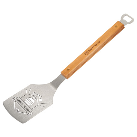 The Sportula BBQ Spatula w/License to Grill Design, 1037-04 - Laser Engraved Imprint