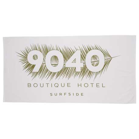 12.0lb./doz. Turkish Cotton Beach Towel, 2090-89 - Tone on Tone Imprint