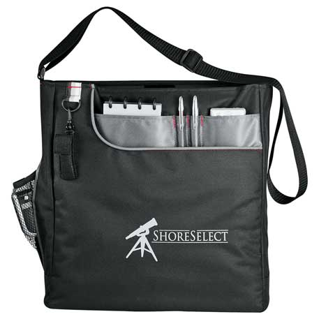 Transpire Deluxe Business Shoulder Tote, 6750-10, 1 Colour Imprint