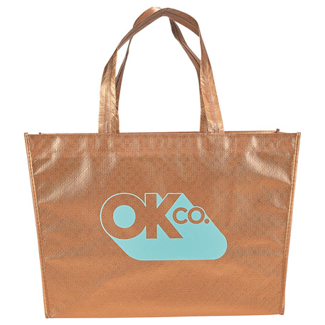 Alloy Laminated Shopper Tote, 2160-11, 1 Colour Imprint