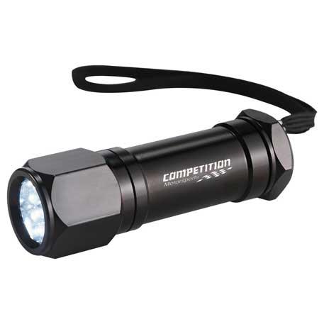 Built2Work 8 LED Aluminum Superbright Flashlight, 1225-91 - Laser Engraved Imprint