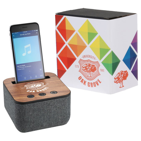 Shae Fabric Bluetooth Speaker with Full Color Wrap, 7198-83, 1 Colour Imprint