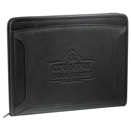 Case Logic(R) Conversion Zippered Tech Padfolio, 8150-29, Deboss Imprint