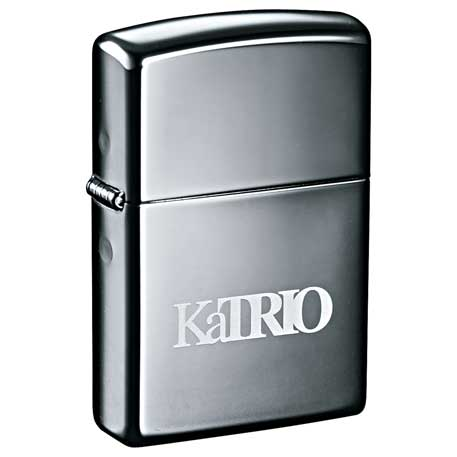 Zippo Windproof Lighter Black Ice, 7550-22 - Laser Engraved Imprint