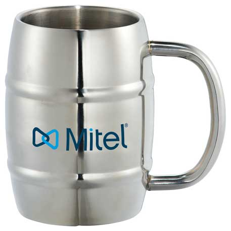 Growl Stainless Barrel Mug 14oz, 1624-38 - 1 Colour Imprint