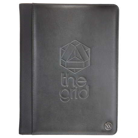 elleven Core Executive Zippered Padfolio, 0011-73, Deboss Imprint