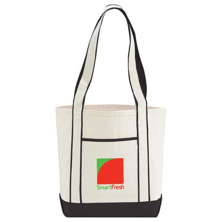 10 oz. Cotton Canvas Top Sail Boat Tote, 7900-06, 1 Colour Imprint