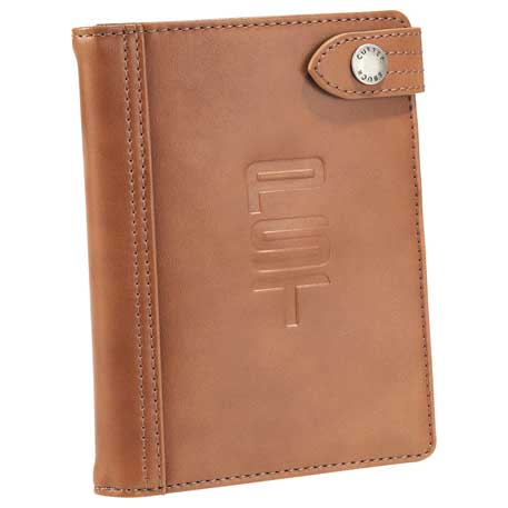 Cutter & Buck Legacy Passport Wallet, 9830-65-L, Debossed Logo