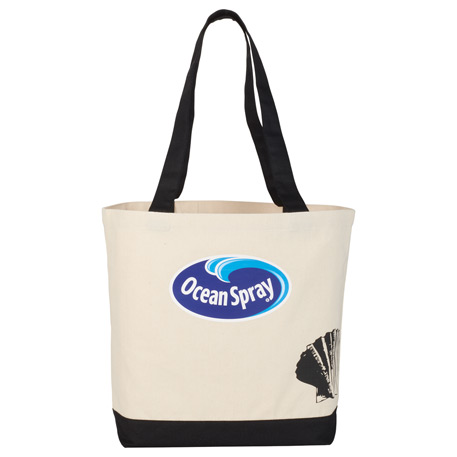 8 oz. Cotton Canvas Seashell Tote, 7900-87 - 1 Colour Imprint