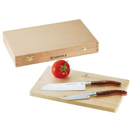 Laguiole Cutting Board Set, 1250-32 - Laser Engraved Imprint