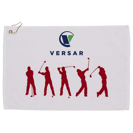 Silhouette in Action Golf Towel, 2090-86, 1 Colour Imprint