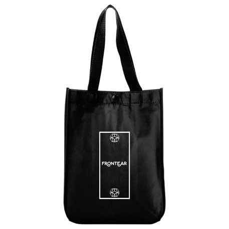 Mini Laminated Non-Woven Shopper Tote, 2160-82 - Debossed Imprint
