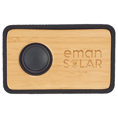 Boundary Natural Bamboo Bluetooth Speaker, 7197-13-L, 1 Colour Imprint