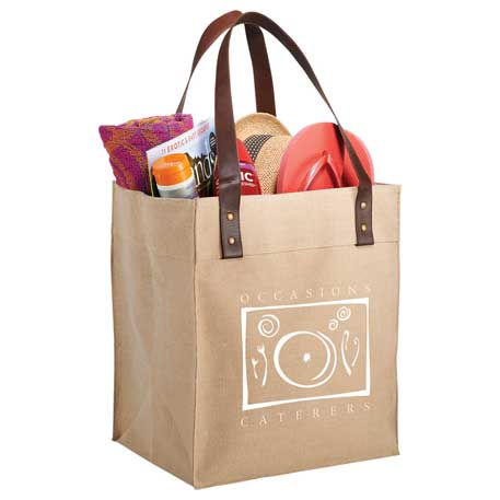 Jute Grocery Tote, 7900-73 - 1 Colour Imprint