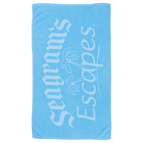 6.5lb./doz. Small Colored Beach Towel, 2090-32, 1 Colour Imprint