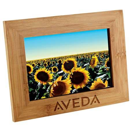 Bamboo Photo Frame, 3002-32 - Laser Engraved Imprint