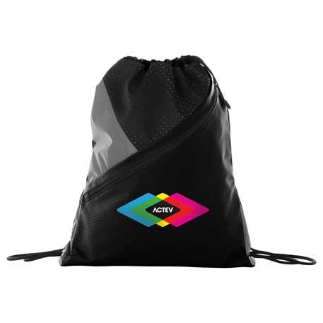 Slazenger(R) Competition Zip Drawstring Sportspack, 6050-72, 1 Colour Imprint