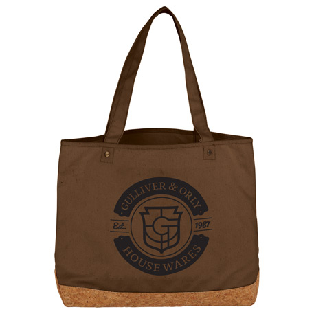 Napa Cotton and Cork Shopper Tote, 2160-61, 1 Colour Imprint