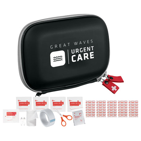 StaySafe 16-Piece Quick First Aid Kit, 1490-10, Deboss Imprint