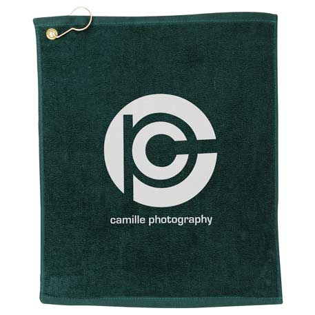 1.3 lb./doz. Terry Golf Towel, 2090-01, 1 Colour Imprint