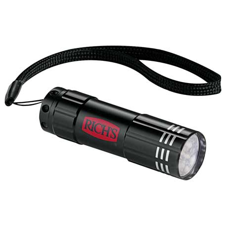 Flare 9 LED Flashlight, 1220-80 - Laser Engraved Imprint