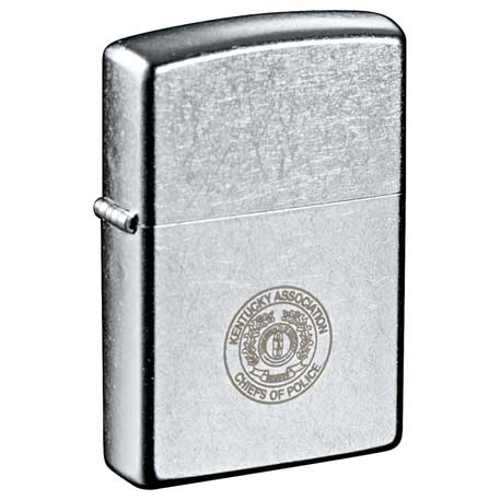 Zippo Windproof Lighter Street Chrome, 7550-18 - Laser Engraved Imprint