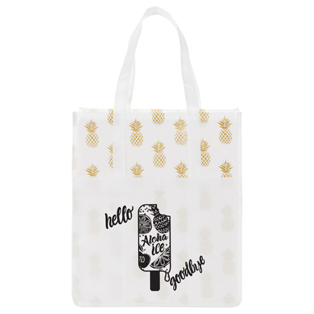 Pineapple Laminated Shopper Tote, 2160-86, 1 Colour Imprint