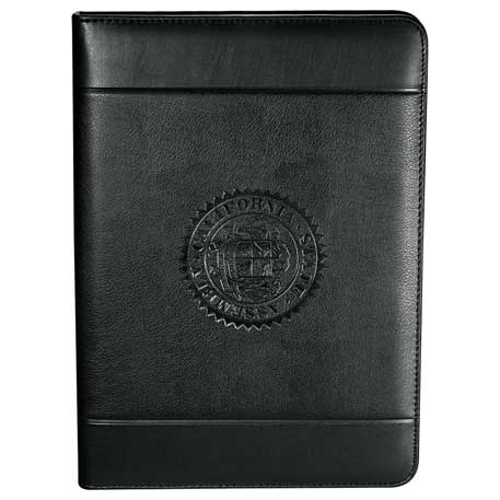 Windsor Impressions Zippered Padfolio, 0551-10, Deboss Imprint