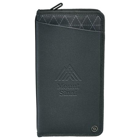 elleven Traverse RFID Travel Wallet, 0011-26 - Debossed Imprint