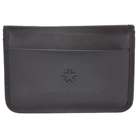 elleven RFID Travel Wallet with Power Pocket, 0011-57 - Debossed Imprint