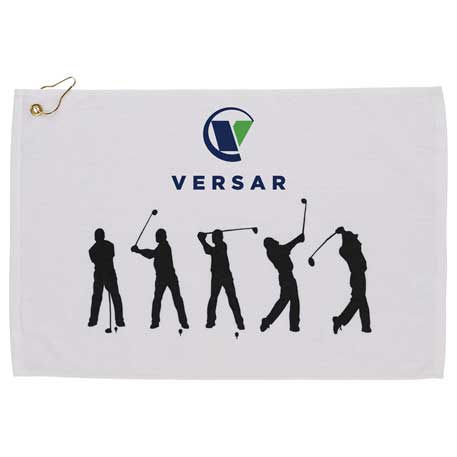 Silhouette in Action Golf Towel, 2090-86 - 1 Colour Imprint