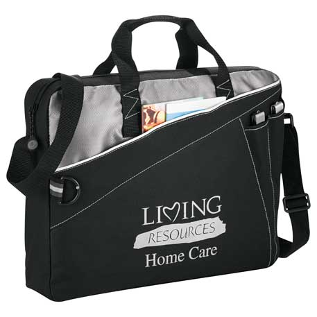 Skyline Briefcase, 6740-12, 1 Colour Imprint