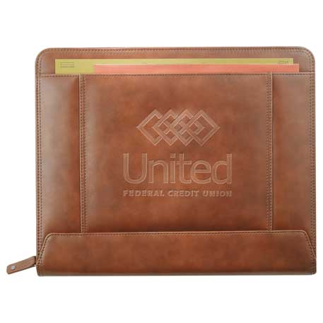 Cutter & Buck Legacy Zippered Padfolio, 9830-10, Deboss Imprint
