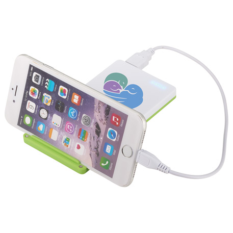UL Listed Mag 4000 mAh Power Bank with Phone Stand, 7121-16, 1 Colour Imprint