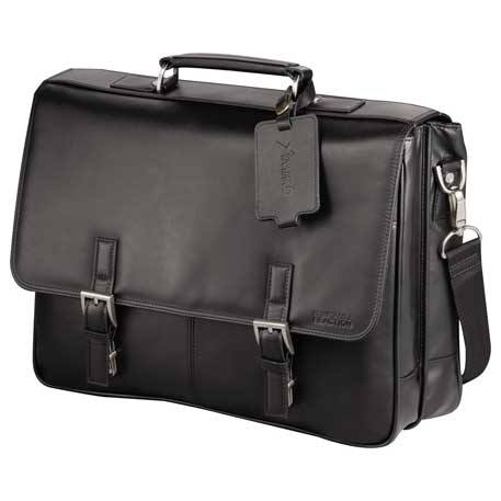 Kenneth Cole Manhattan Leather Computer Messenger, 9950-12, Deboss Imprint