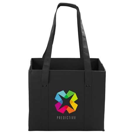 100g Non-Woven Collapsible Tote, 2150-65 - 1 Colour Imprint