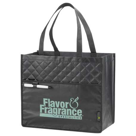 Quilted Laminated Non-Woven Carry-All Tote, 2160-08, 1 Colour Imprint