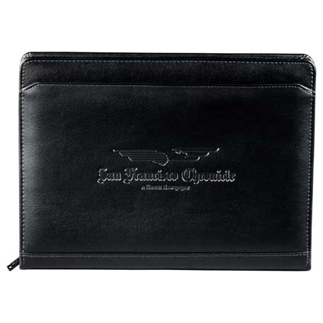 Manchester Zippered Padfolio, 0400-10, Deboss Imprint
