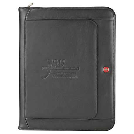 Wenger Exec Leather Zippered Padfolio Bundle Set, 1355-10, 1 Colour Imprint