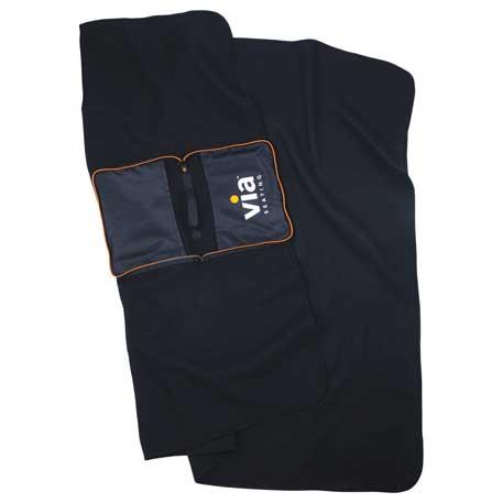 BRIGHTtravels Packable Fleece Blanket, 7007-14 - 1 Colour Imprint