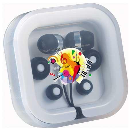 Colour Pop Earbuds with Mic, 7199-29 - 1 Colour Imprint