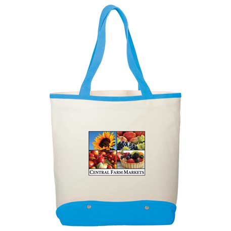 12 oz. Cotton Canvas Sun & Sand Beach Tote, 7900-77 - 1 Colour Imprint